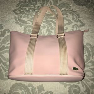 🐊⭐️Lacoste Pink PVC Tote with mini bag⭐️🐊